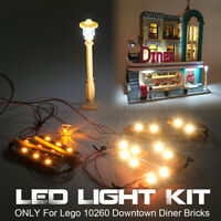LED Light Lighting Kit ONLY For Lego 10260 Downtown Diner Building Bricks  q ˜.