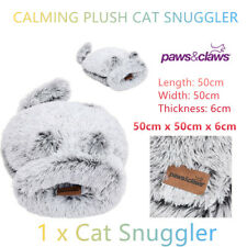 Calming Plush Cat Snuggler Bed Cave Quilt Soft Faux Fur Self Cozy Warming Relax