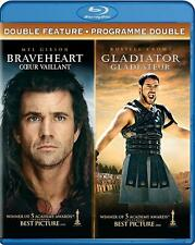 Braveheart/Gladiator (Blu-ray Disc, 2017, 3-Disc Set, Canadian)