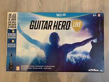 PACK JEU VIDEO GUITAR HERO LIVE - WII U  neuf
