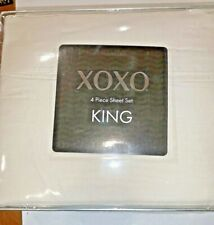 XOXO Four Piece Sheet Set King Microfiber In Beige