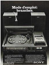 PUBLICITE ADVERTISING 095  1977  SONY    hi-fi  platine cassette