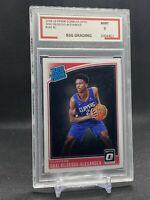 2018 Panini Donruss Optic #162 Shai Gilgeous - Alexander Rated Rookie BSG 9 RC🔥