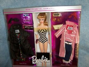 35th Anniversary Barbie 1959 Reproduction Giftset- Doll, fashion, Package