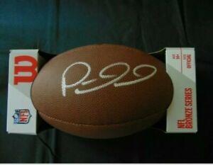 Patrick Mahomes Kansas City Chiefs Autographed Wilson Football GA coa