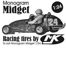 Monogram MIDGET 1/24 Vintage Race Tires [Made by MJK]