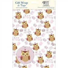 Gift Wrap & Tags - Birthday Owl (2 Sheets+Tags)