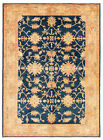 """Vintage Hand-Knotted Carpet 4'10"""" x 6'9"""" Traditional Oriental Wool Area Rug"""