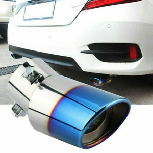 Universal Auto Car Exhaust Pipe Tip Tail Muffler Stainless Steel Accessories