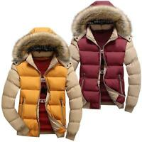 "Mens Jackets Warm Winter Casual Coat Fur Hoodie Parka Trench Fashion 34""-42"""
