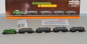 Z Scale Marklin 81422 SKW Trostberg Diesel Switcher Loco w/ 4 Carbide Cars LNIB