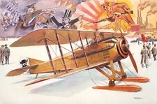 Roden 1/32 Spad VII C 1 WWI Biplane With Russian Skis Model Kit 617