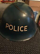 British Police Marked Blue Turtle Helmet Rem III Liner