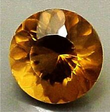 11 mm ROUND PORTUGUESE CUT NATURAL COGNAC QUARTZ #R514