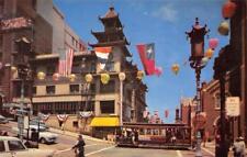 Chinatown, Grant Avenue Street Scene San Francisco, California c1950s Postcard