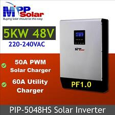 5kva 5000w Solar inverter 48v + 50A solar charger+ 60A battery charger off grid