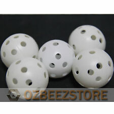 100 x Plastic hollow airflow ball for PRACTICE TRAINING Golf BALLS wholesale