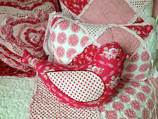 Shabby Chic Scarlet  Vintage Floral Novelty Bird Cushion Nursery Kids Bedroom