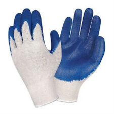 10 DOZEN 120 PAIR BLUE LATEX PALM COATED STRING KNIT WORK GLOVES NEW