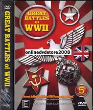 GREAT BATTLES of World War II 2 WWII (OVER 12 HOURS) NEW SEALED (5 DVD SET)