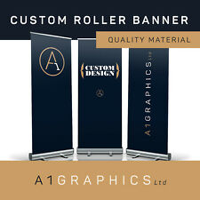 Roller Banner Display Stand Custom Printed Pop Up Sign For Exhibition Trade Show