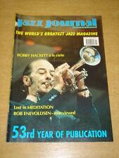 JAZZ JOURNAL INTERNATIONAL VOL 53 #10 2000 OCTOBER BOBBY HACKETT BOB ENEVOLDSEN
