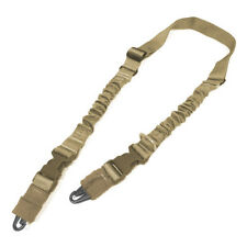 CONDOR ARMY CBT 2 POINT BUNGEE STRAP SLING AIRSOFT WEBBING SHOOTING COYOTE TAN