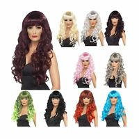 Adult Ladies Long Wavy Siren Mermaid Wig Lagoon Monster Fancy Dress Accessory