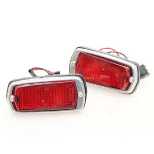 FIT FOR DATSUN 510 120Y 280Z 240Z 260Z S30 B210 RED MARKER LAMPS LH RH SET 68-78