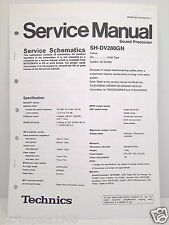 Technics Original Service Manual Schematics SH-DV280GN Sound Processor