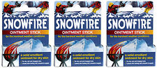 3 x Ransom Pickles Snowfire Ointment Sticks 18g Cracked Dry Damaged Hands Skin