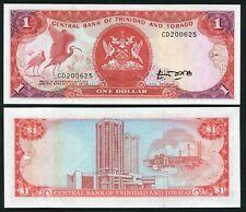 Trinidad & Tobago 1$ 1985 Birds & Coat of Arms - P36a - Signature 4 - AU