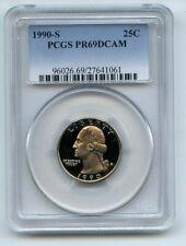 1990 S 25C Washington Quarter Proof PCGS PR69DCAM