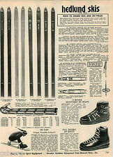 1968 ADVERT Hedlund Skis Golden Arrow Metal Toboggans