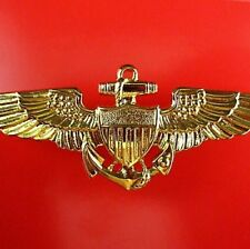GENUINE U.S. NAVY OFFICER FIGHTER PILOT AVIATOR TOP GUN WINGS