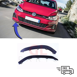 NEW FRONT BUMPER LOWER SPOILER LIP RIGHT O/S  FOR VW GOLF GTI MK7 2012 - 2017