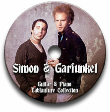 SIMON & GARFUNKEL folk rock guitare & piano Tab Tablature Song Book CD