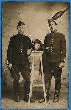 CPA PHOTO: Deux soldats du 18° Régiment de Dragons