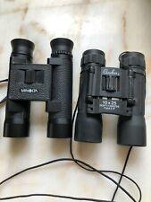 Lot of 2 Binoculars Minolta Pocket 8 x 24 6.3 Bonolux 10 x 25 288 ft 1000 yd 5.9