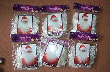 New 6 x Santa Father Christmas White Beard Party Stag Nativity