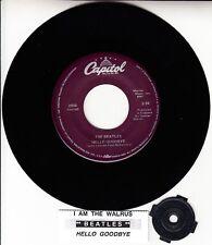 "BEATLES  Hello Goodbye & I Am The Walrus 45 7"" record NEW RARE + juke box strip"