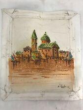 MCM Impressionist Original Art Oil Painting Signed Morocco Moorish Vtg Arabesque
