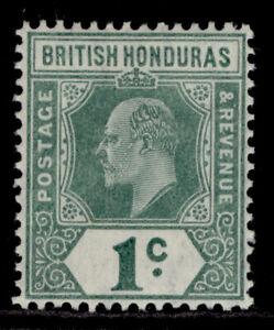 BRITISH HONDURAS EDVII SG84, 1c grey-green & green, M MINT. Cat £20. ORDINARY