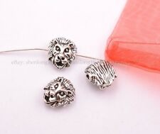 5/10/30/50Pcs Tibetan Silver Lion Head Spacer Beads for Bracklet  SH3029