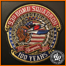 93D BOMB SQUADRON 100TH ANNIVERSARY PATCH, B-52 STRATOFORTRESS, NOSE ART VERSION