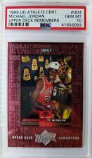 1999 U.D. Michael Jordan ATHLETE CENTURY REMEMBERS #UD4, PSA 10, Pop 7