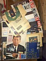 LOT LIFE Magazine Post 1960s ALL THINGS KENNEDY JFK Oswald Warren Report ETC