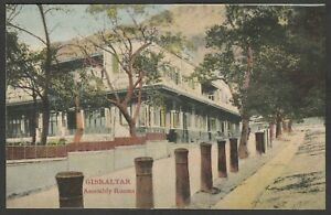 Postcard Gibraltar early view of the Assembly Rooms by Cumbo