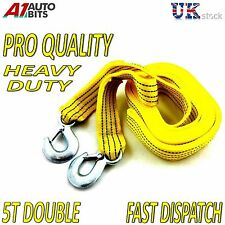 5 Ton 4.5M Tow Cable Heavy Duty Car Break Down Towing Rope Recovery Tool Vehicle