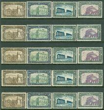 ITALY : 1930. Sassone #272-75. 5 sets, All Fresh & VF, Mint NH. Catalog €425.00.
